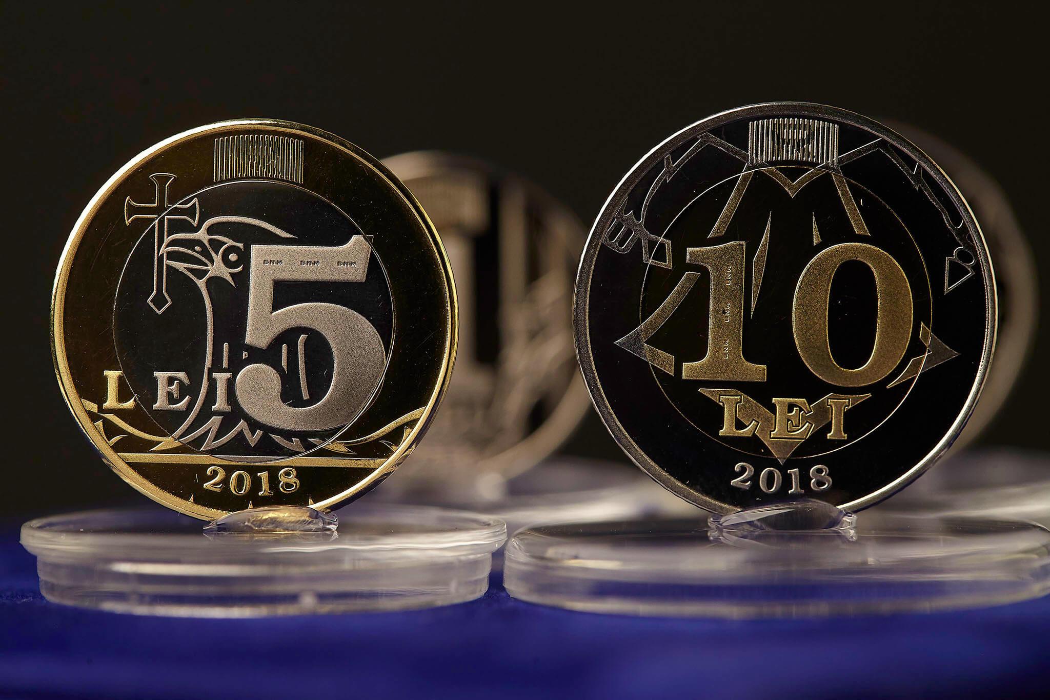 Din 28 februarie 2018, BNM pune în circulație noi monede metalice: de 1, 2, 5 și 10 lei