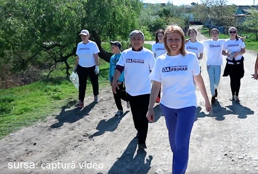 VIDEO // Arina Spătaru a mobilizat locuitorii din Bălți să iasă la curățenie