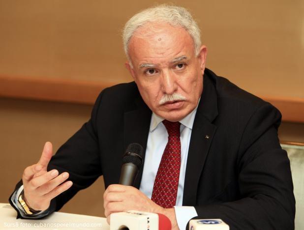 Riyad Malki, ministrul de Externe al Autorităţii Palestiniene ...