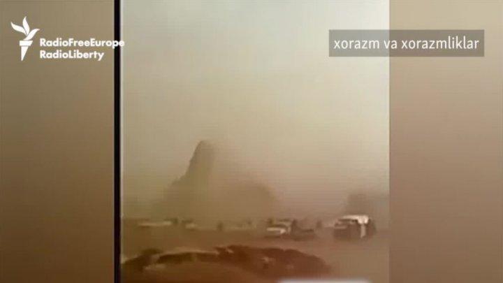 VIDEO | O furtună puternică de sare a lovit Uzbekistanul și Turkmenistanul