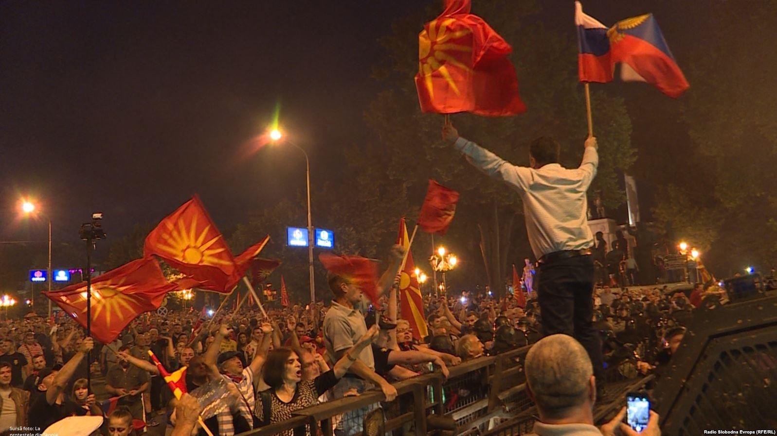 Proteste ale naționaliștilor macedoneni la Skopje împotriva acordului istoric semnat cu Grecia