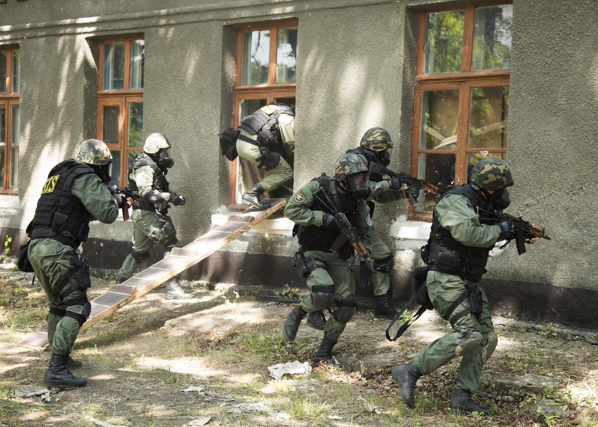 FOTO | Serviciile speciale de la Chișinău și Kiev s-au antrenat la Briceni