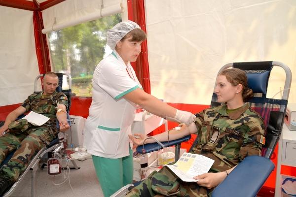 Militarii Armatei Naționale au donat sânge