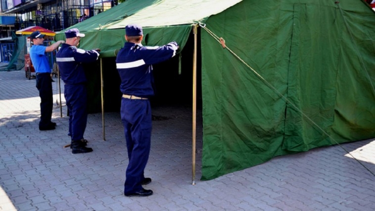 IGSU instalează corturi în mai multe orașe pe timp de caniculă
