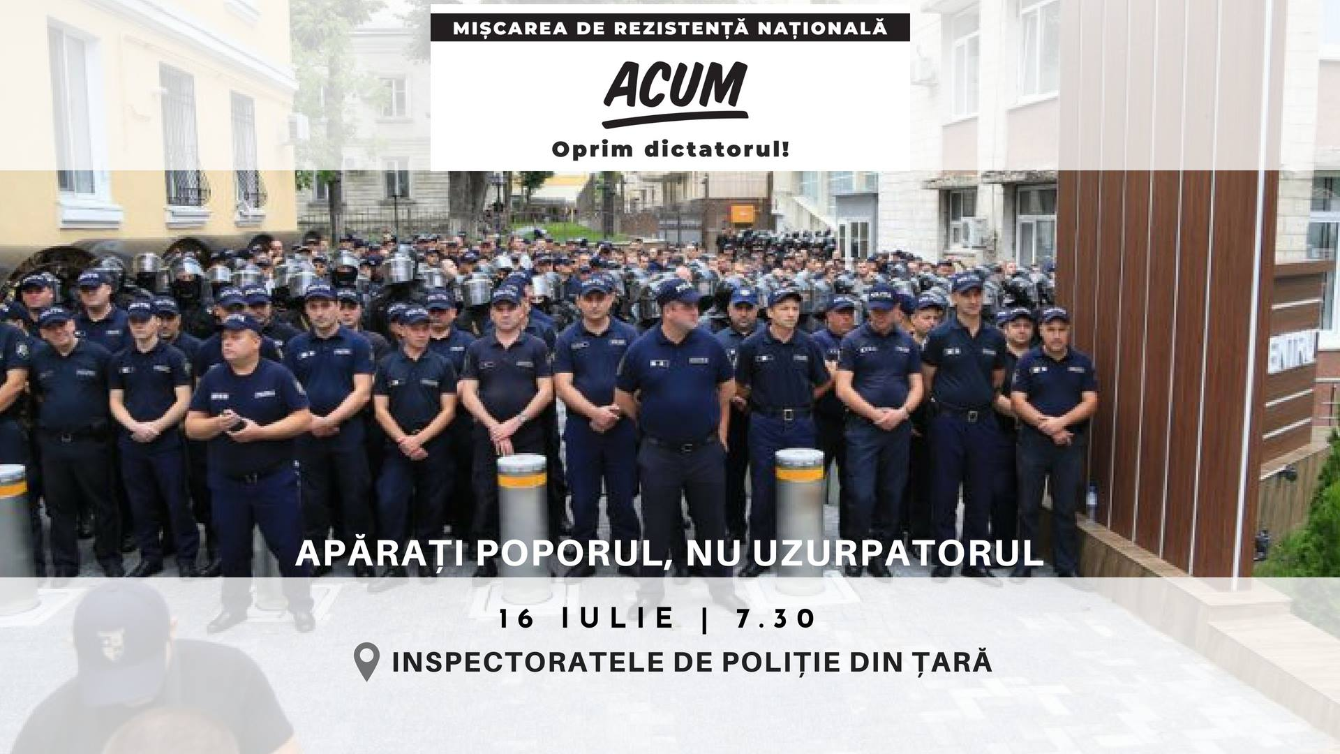 VIDEO | Acțiuni de protest în fața mai multor Inspectorate de Poliție din republică