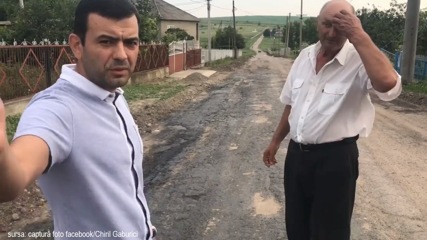 """Gaburici a venit să """"crească"""" drumul din Varvareuca"""