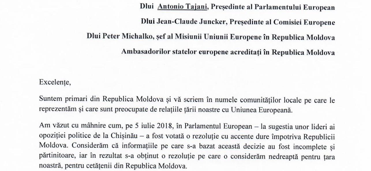 """Primarii semnează, """"de bunăvoie și nesiliți de nimeni"""", o scrisoare deschisă adresată liderilor UE"""