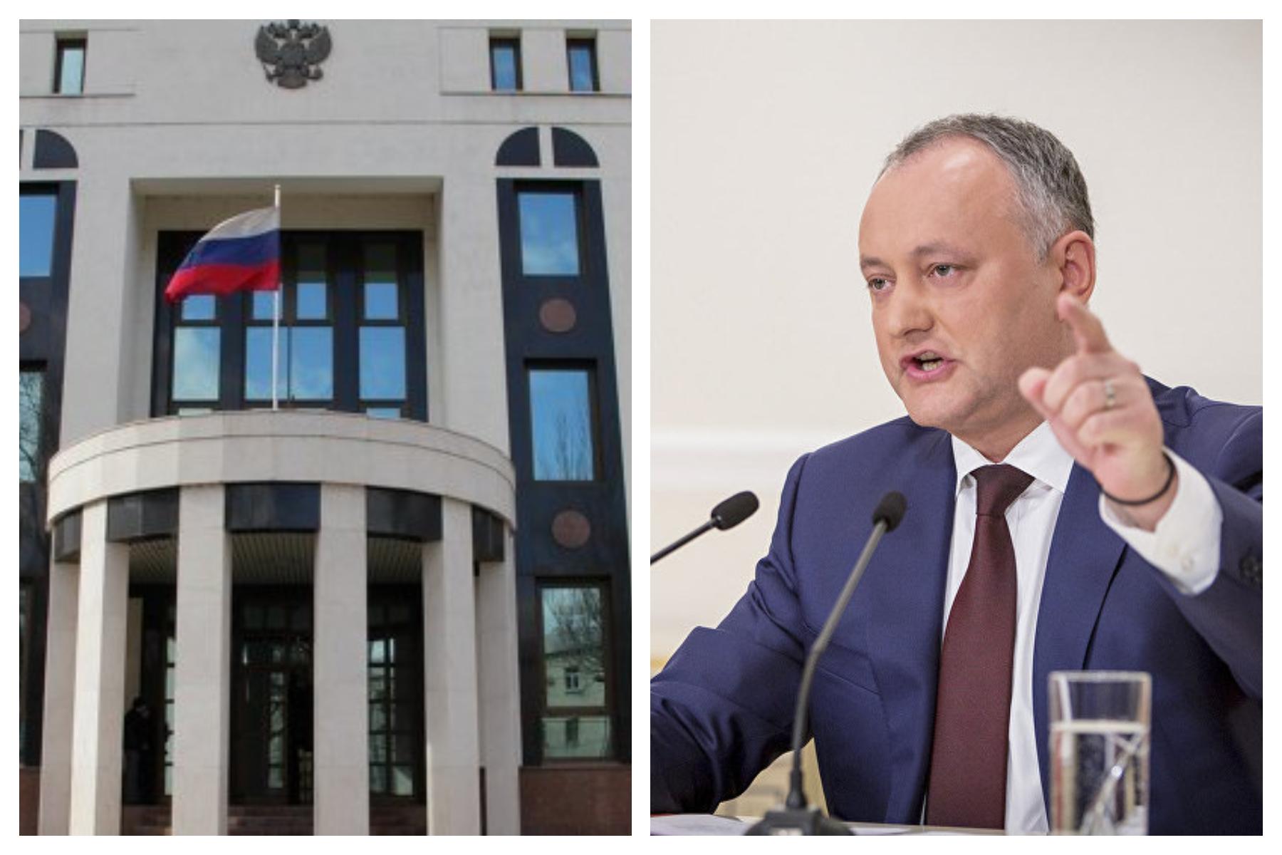 """Dodon-moldovenește, cu """"Δ din """"I"""", Ambasada Rusiei-românește, cu """""""" din """"A"""""""