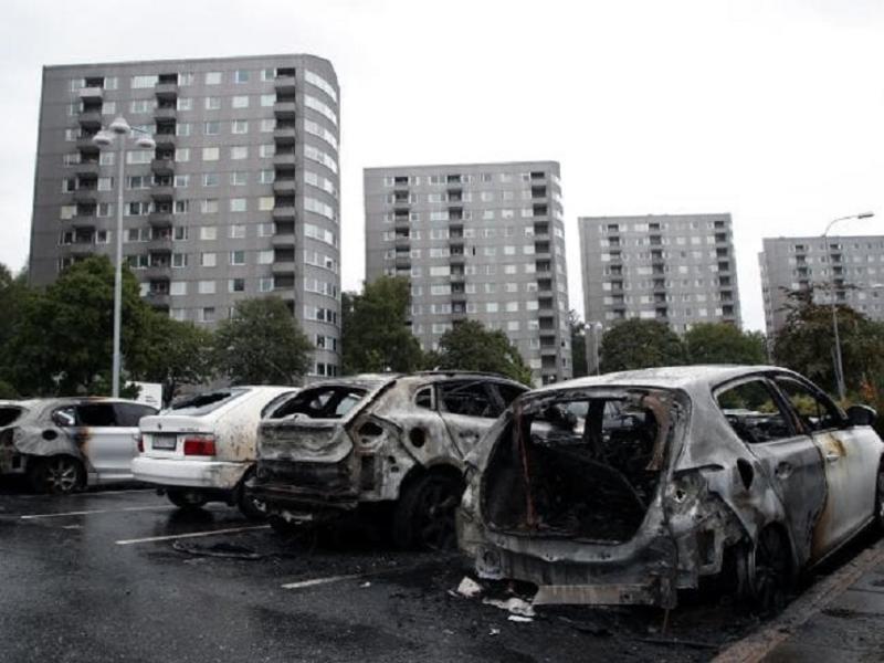 Incendieri în masă în Suedia