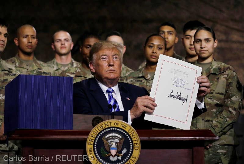 Trump a promulgat bugetul pe 2019 al Pentagonului