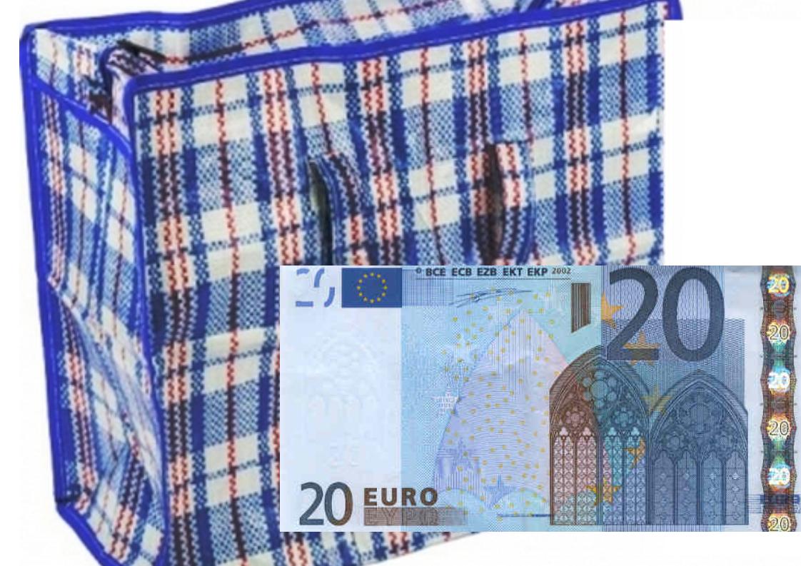 Dumitru Pelin // Douăzeci de euro și torba-n pătrățele…