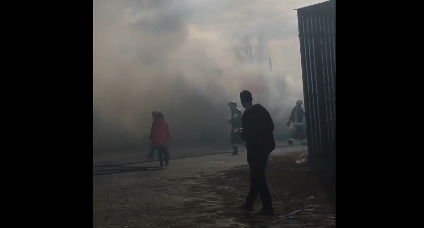 VIDEO   Incendiu în piața Baiducov din Bălți