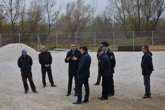 Vitalie Vrabie a inspectat șantierul de construcție a noii zone de control vamal de la Sculeni