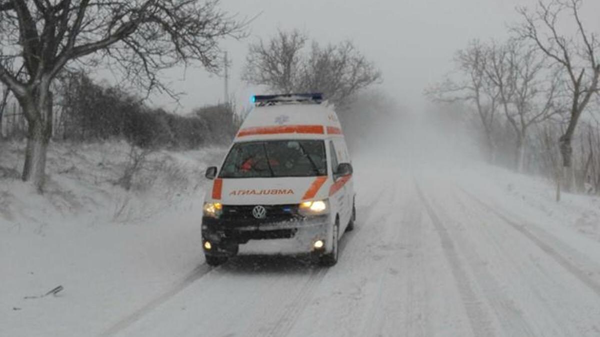 Авария с участием машины скорой помощи в Теленешть