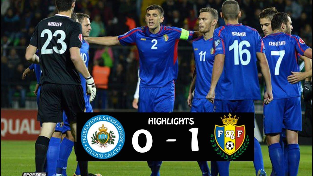 Selecționata de fotbal a Moldovei a obținut o victorie chinuită în meciul cu San Marino din Liga Națiunilor