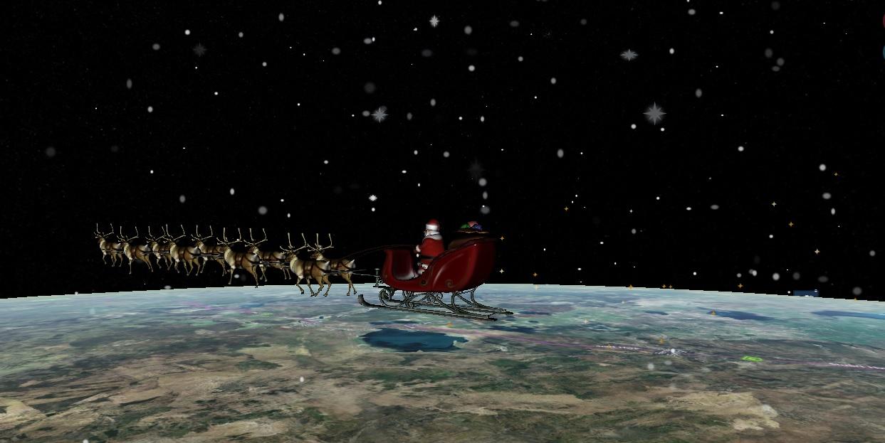 Moş Crăciun a plecat pe traseu şi tu îl poţi urmări