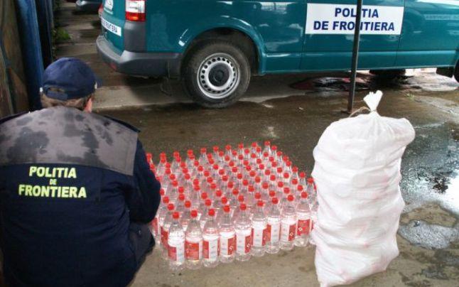 Au fost prinși cu 200 litri de alcool fără acte de proveniență. Ce pedeapsă riscă