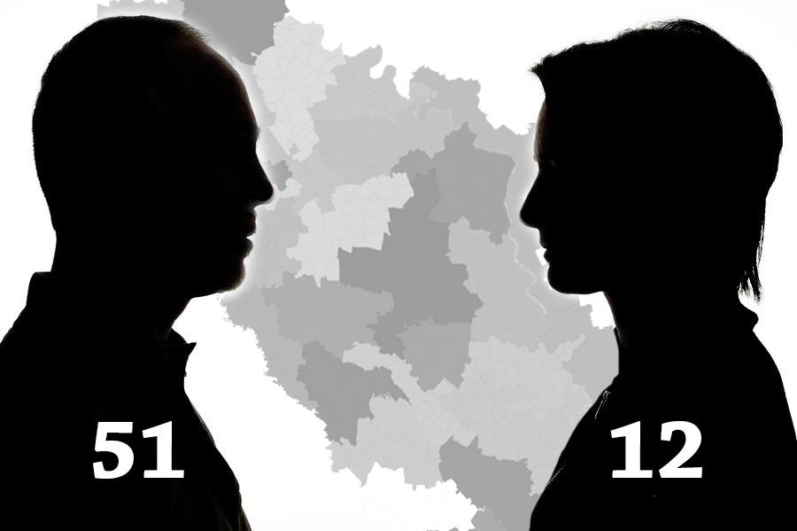 Pe cele 13 circumscripții uninominale din nordul țării candidează doar 12 femei