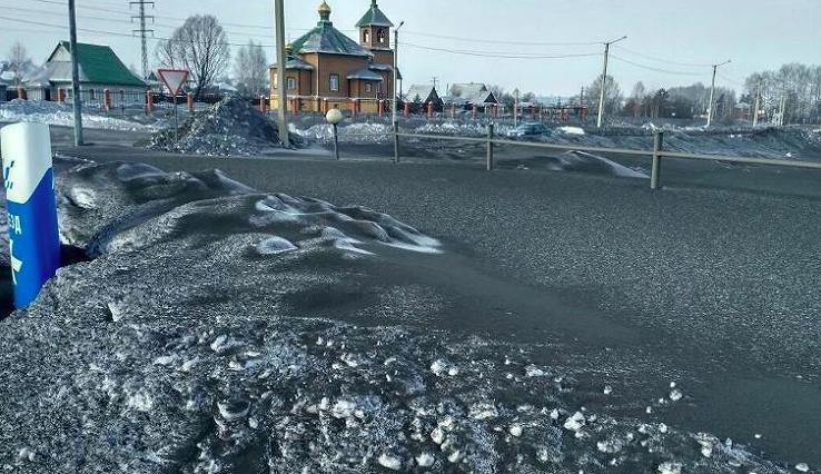 FOTO | Într-o regiune din Rusia a nins cu fulgi negri. Imaginile surprinse în trei orașe