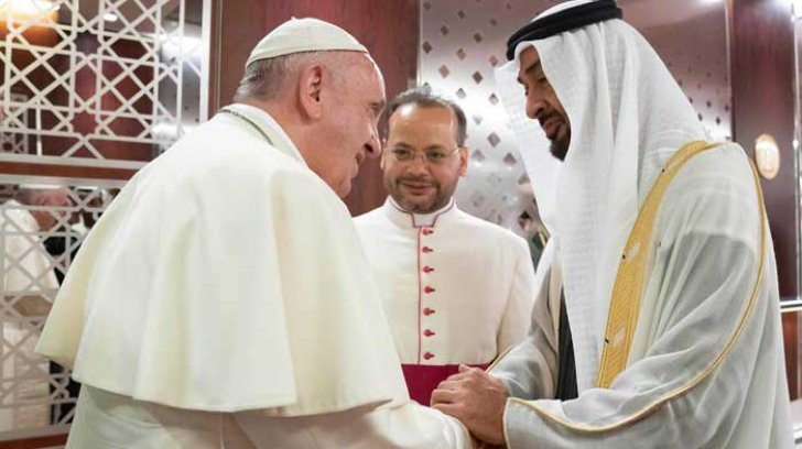 VIDEO | Papa Francisc, vizită istorică în Emiratele Arabe Unite