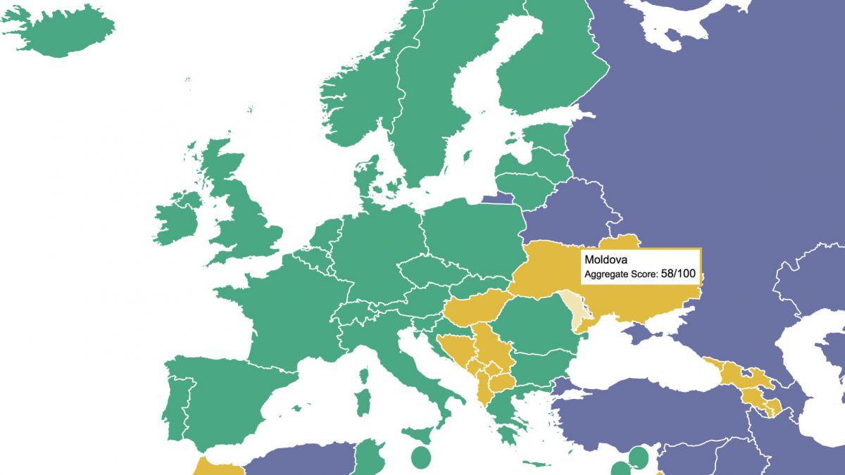 Moldova rămâne o țară parțial liberă. Democrația în declin deja al 13-lea an