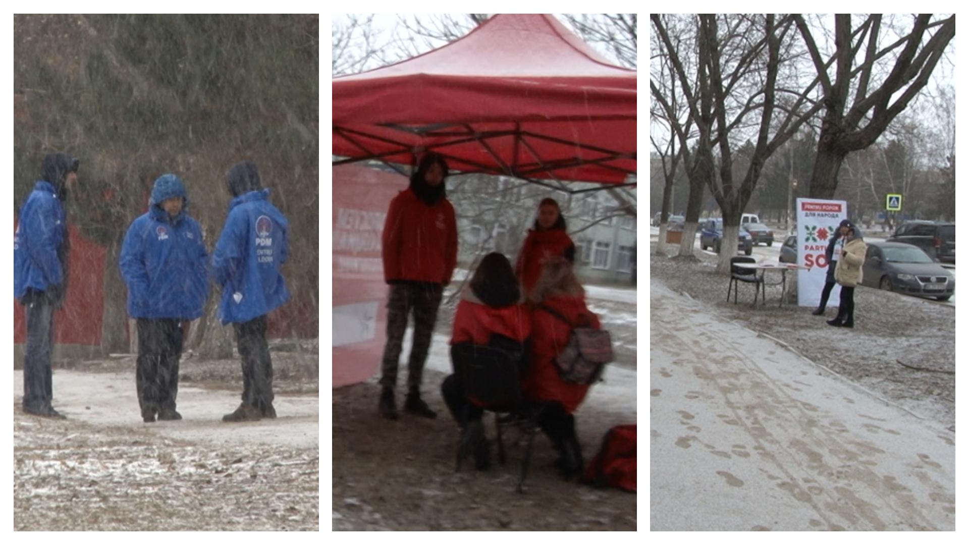 VIDEO | Vânzoleală electorală lângă secțiile de vot din Bălți