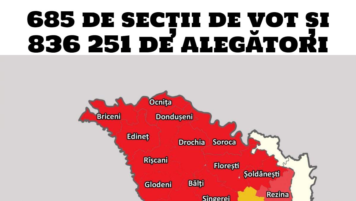 Alegeri parlamentare 2019: peste 800 de mii de cetățeni sunt aşteptaţi la vot în nordul țării