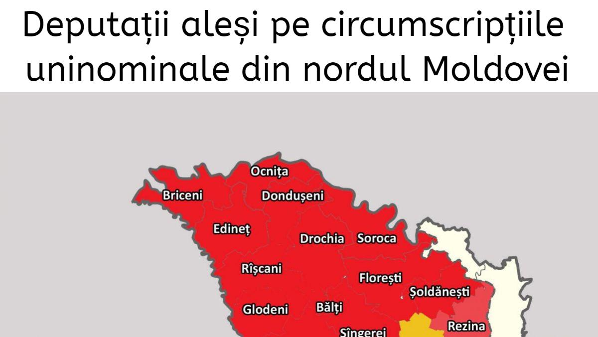 Cine sunt deputații aleși pe circumscripțiile uninominale din nordul Moldovei