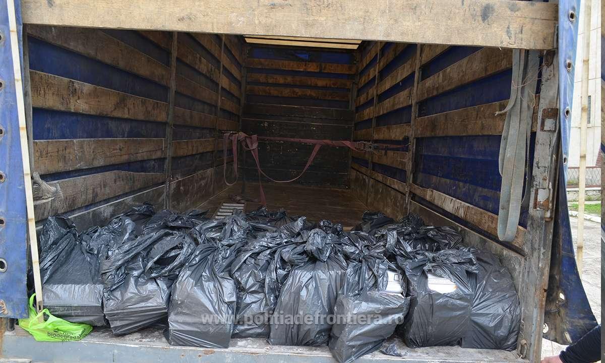 FOTO/VIDEO | Confiscări de peste 220.000 lei, într-o acţiune a poliţiştilor de frontieră ieşeni