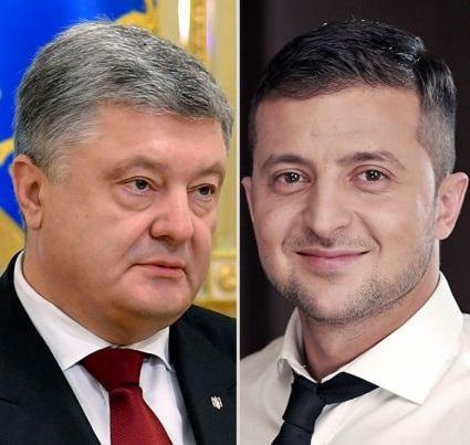 VIDEO | Zelenski și-a chemat contracandidatul la dezbateri, pe stadion. Ce i-a răspuns Poroșenko