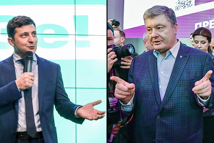 Zelenski ar putea obține 61 la sută din voturi în al doilea tur al alegerilor prezidențiale