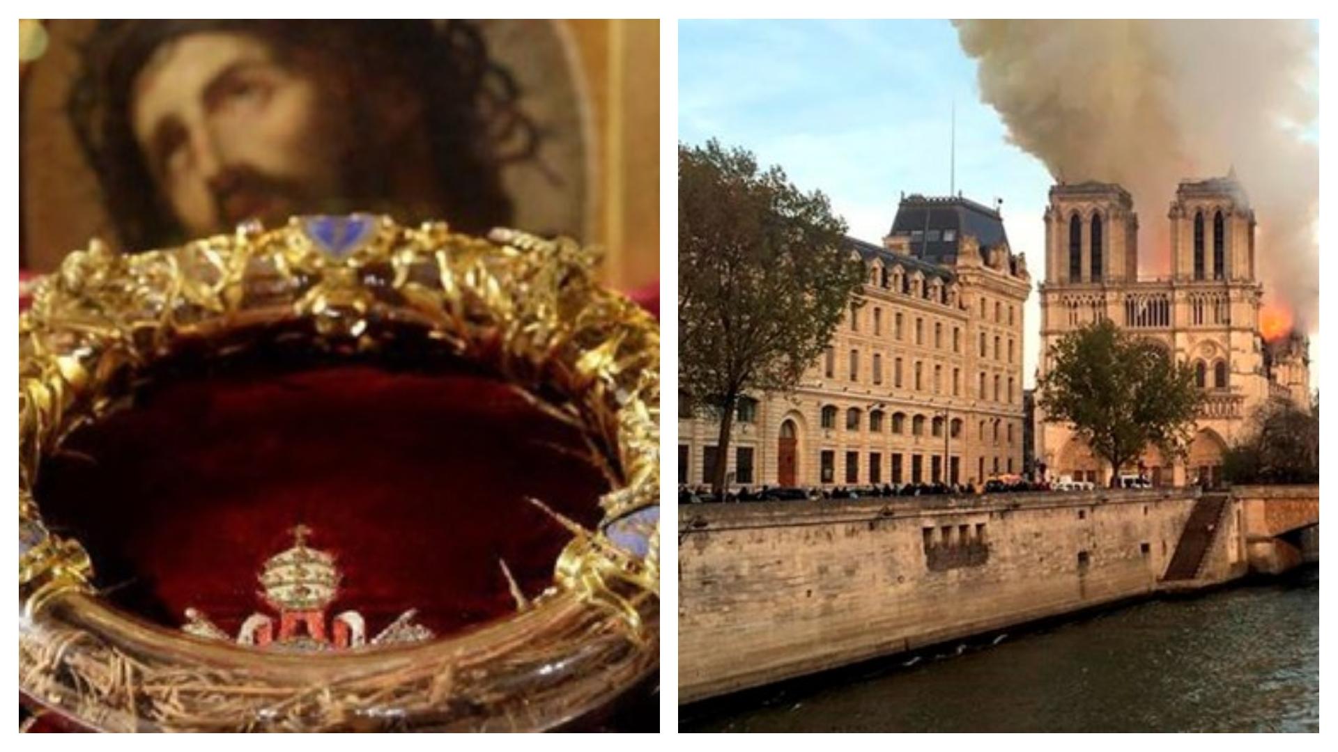 Notre-Dame | Pompierii au reuşit să salveze coroana de spini lui Iisus. Apel internaţional de strângere de fonduri pentru reconstrucţie
