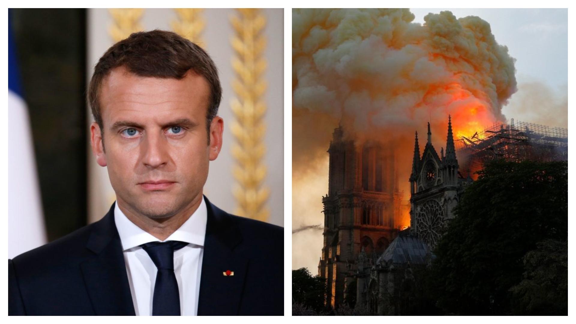 Emmanuel Macron promite reconstruirea Catedralei Notre-Dame în termen de cinci ani