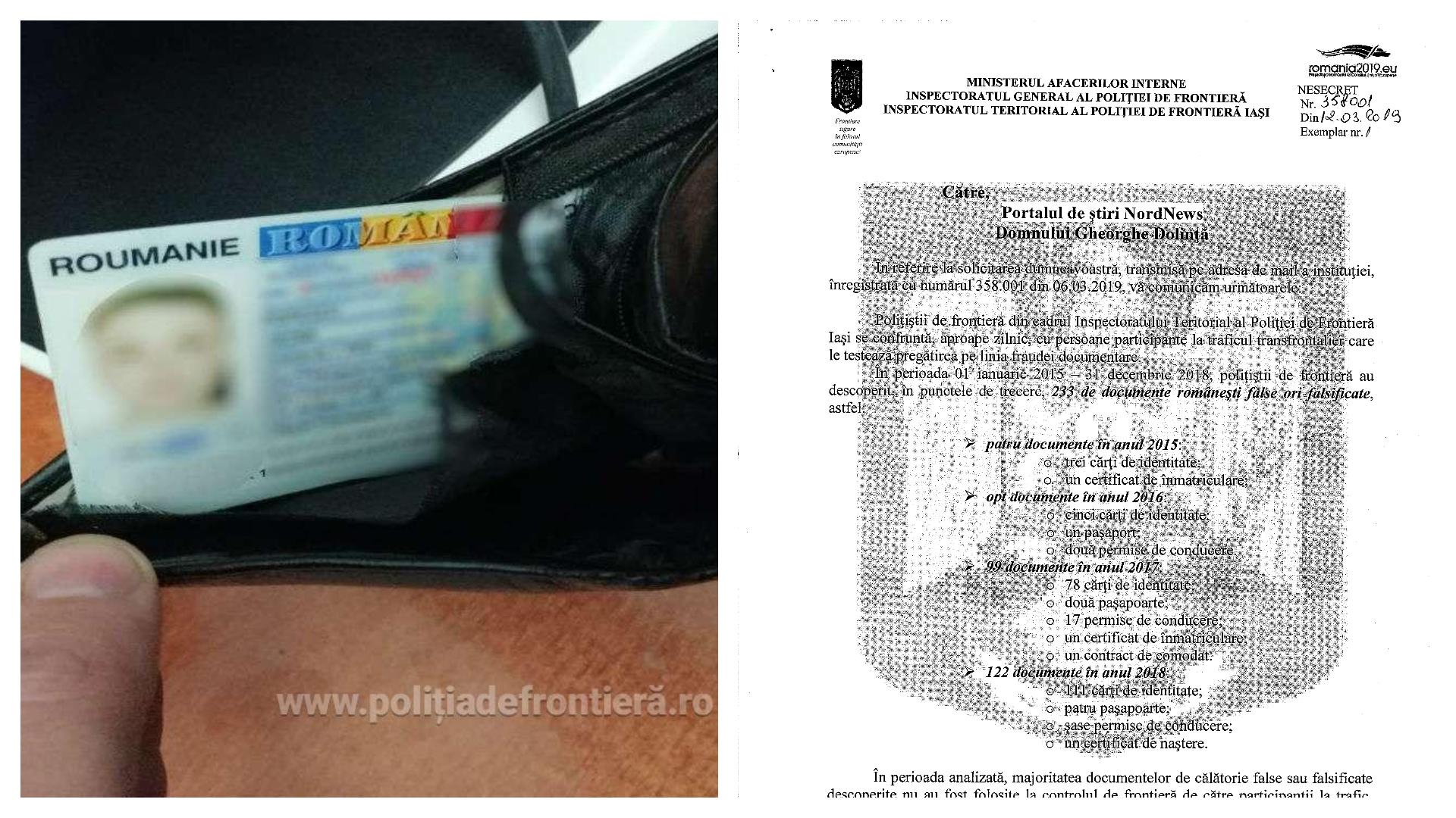 """DOC    Numărul cetățenilor, care """"forțează"""" cu acte false frontiera moldo-română , este în creștere"""