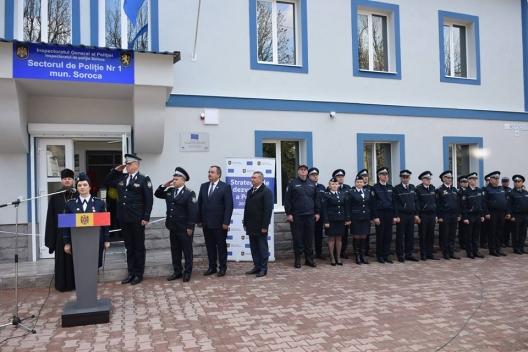 Sector de poliție din Soroca a fost renovat și modernizat la standarde europene