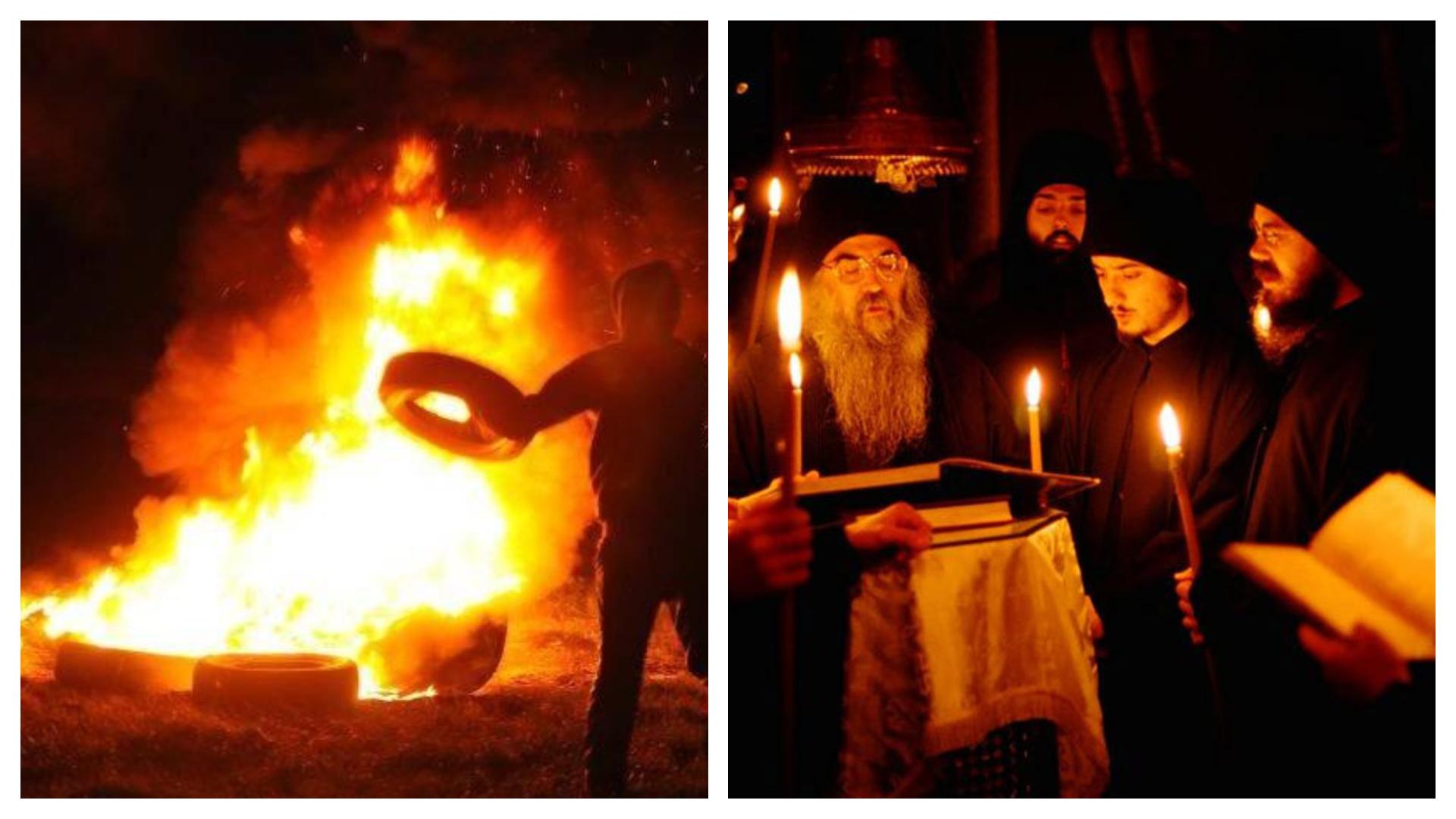 Arderea anvelopelor în Noaptea Învierii e o adiere păgânească