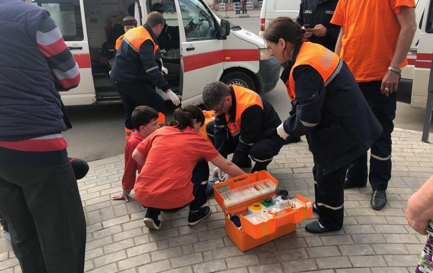 FOTO | Un copil din Bălți a fost lovit de un Opel