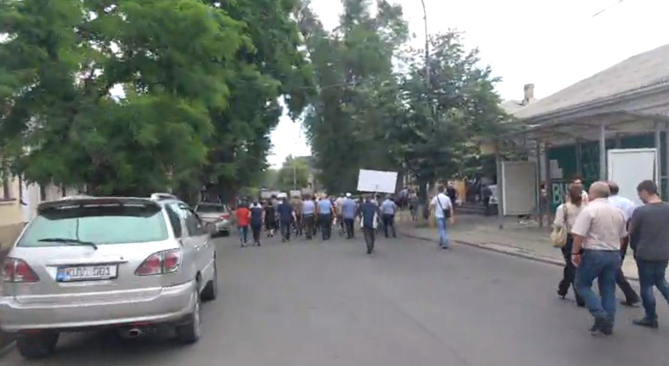 LIVE!  Protest în fața sediului Partidului Acțiune și Solidaritate