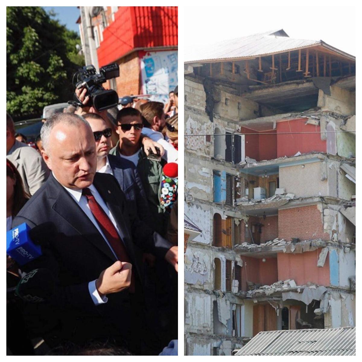 Președintele Igor Dodon se aflăla Otaci și le-a promis oamenilor căli se vor oferi spații locative