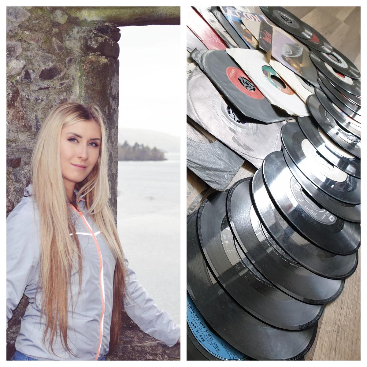 O tânără din Sîngerei, stabilită în Scoția, își vinde colecția de discuri de vinil pentru un act de binefacere