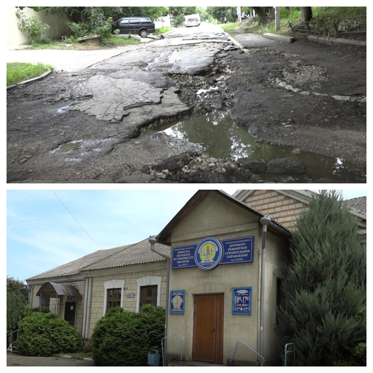 VIDEO    Str. Ostrovski din municipiul Bălți e numai gropi… mari și adânci