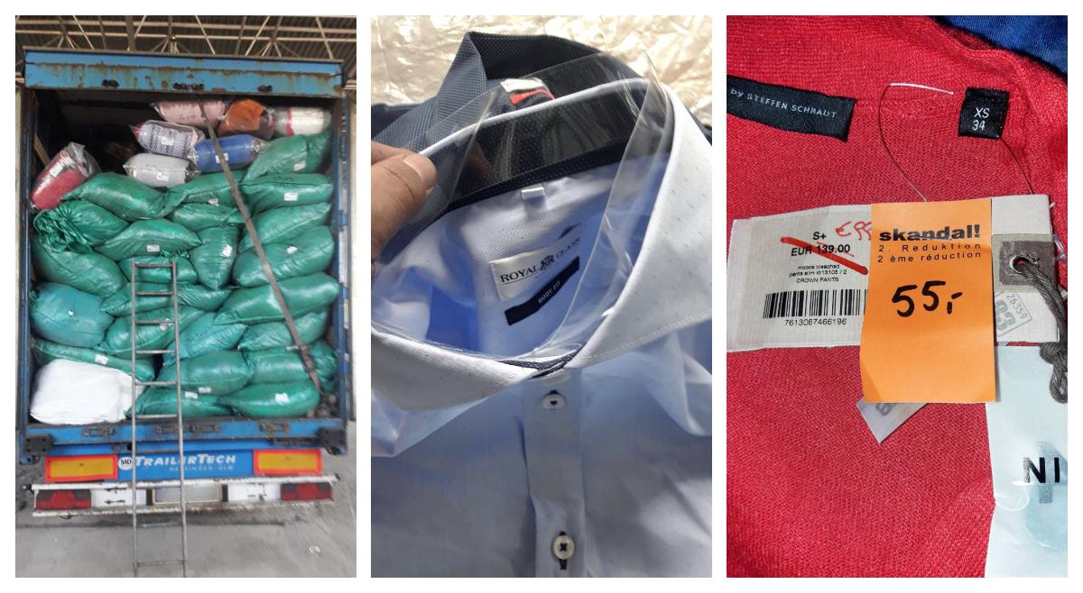 Un agent economic din Bălți a importat ilegal articole vestimentare second-hand