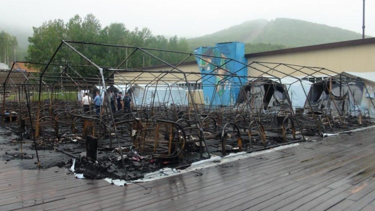Incendiu la o tabără din Habarovsk. Patru copii au murit