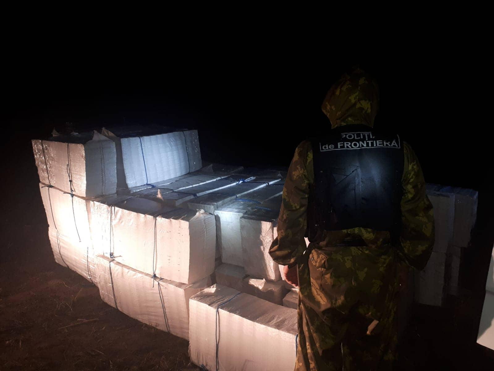 VIDEO | Un grup criminal specializat în contrabandă cu ţigarete, destructurat în nordul republicii