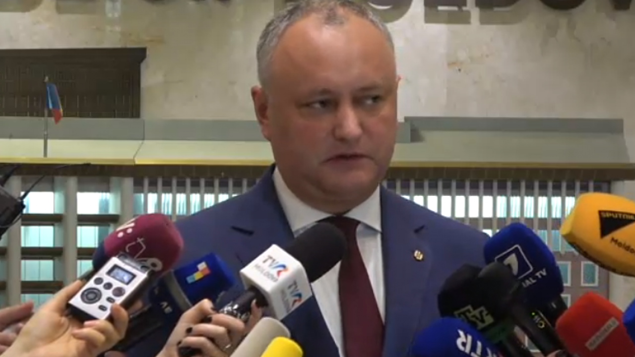 """Igor Dodon: """"Mai mulți deputați riscă să rămână fără imunitate și nu doar din Partidul Șor"""""""
