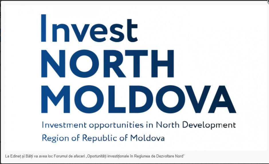 """La Edineț și Bălți va avea loc Forumul de afaceri """"Oportunități investiționale în Regiunea de Dezvoltare Nord"""""""