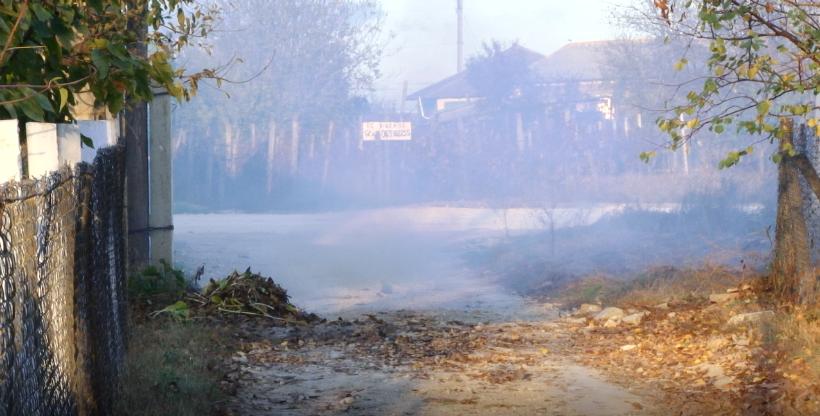 Села вблизи Бельц окутало густым дымом
