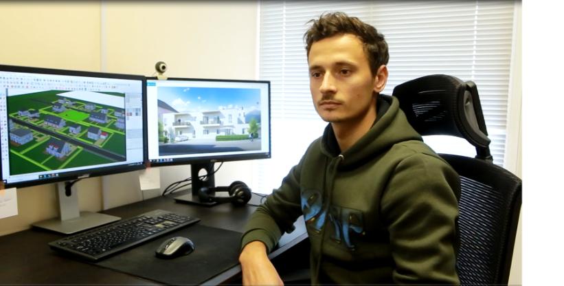 VIDEO | Un tânăr din Edineț realizează proiecte arhitecturale pentru Europa
