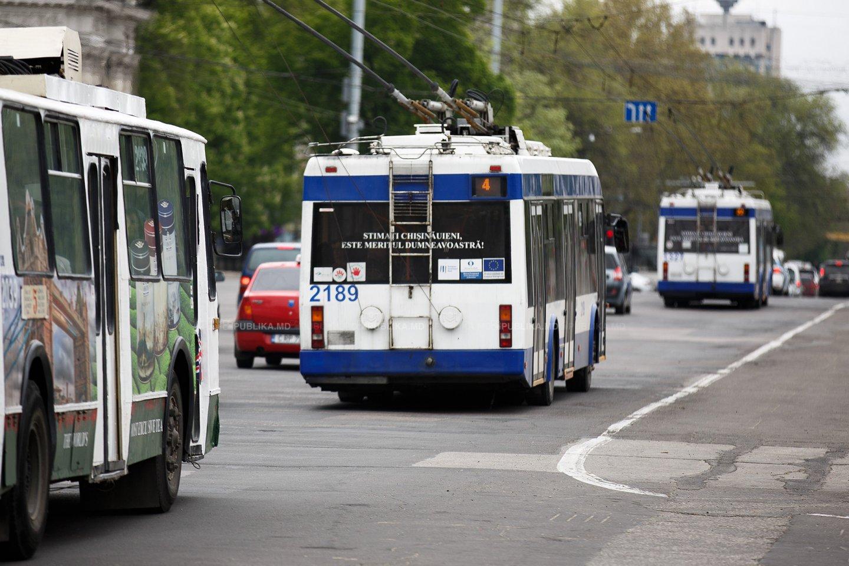 В Кишинёве неизвестный обстрелял троллейбус с пассажирами