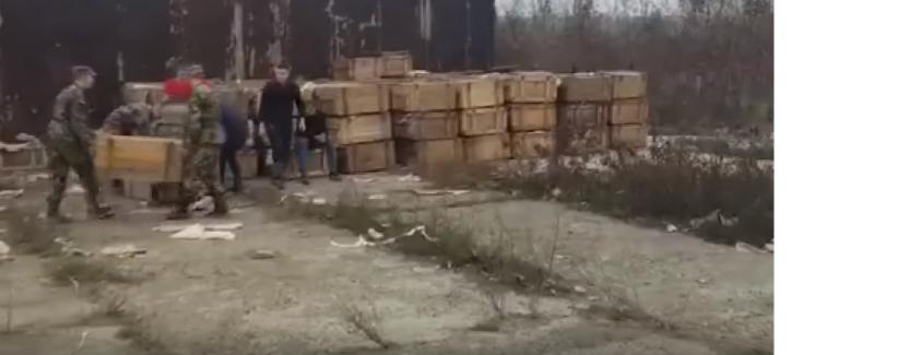 VIDEO | Descoperire neașteptată la Bălți. Peste 230 de mii de măști anti-gaz, ascunse într-un depozit